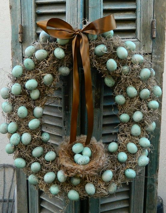 Easter Wreath Made With Hay