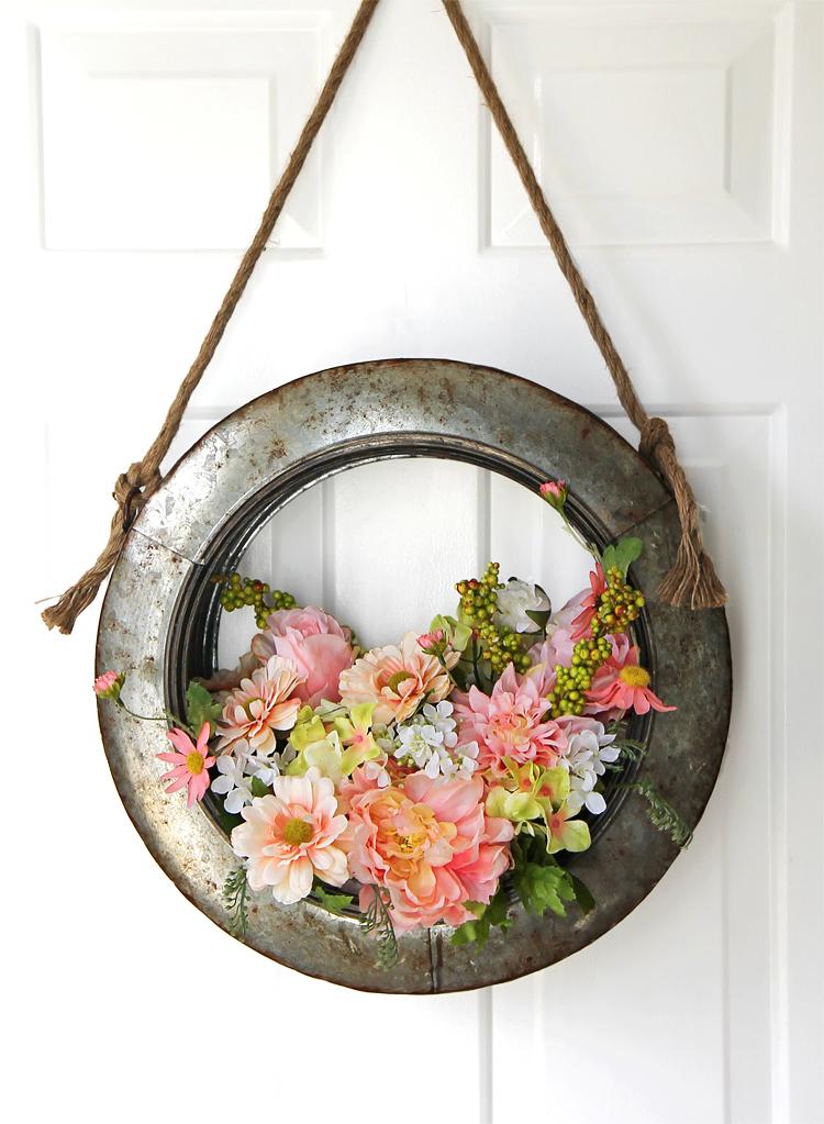 Farmhouse Style Tire Wreath