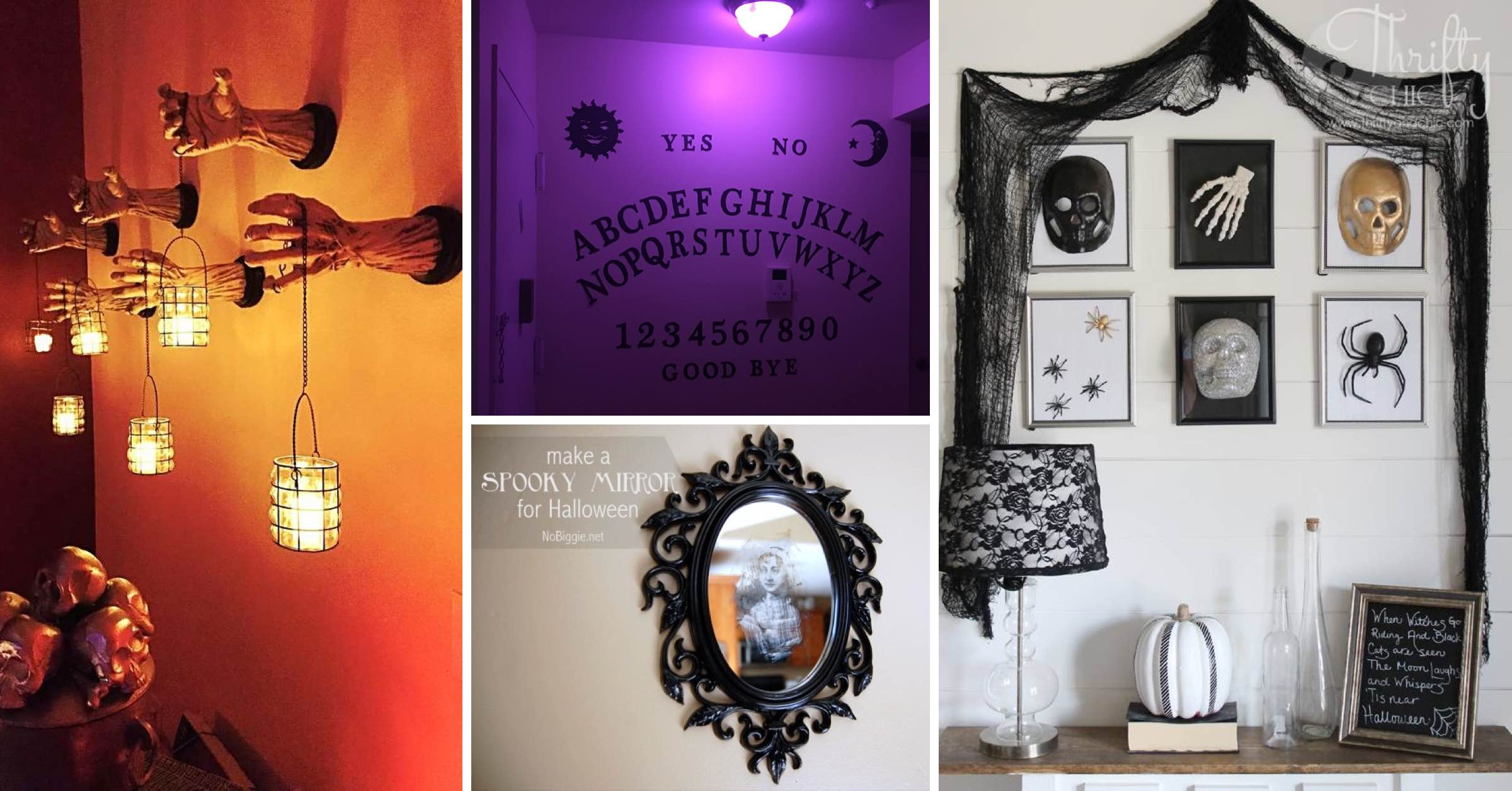 14 Halloween Wall Decor Ideas For A Haunted House Touch