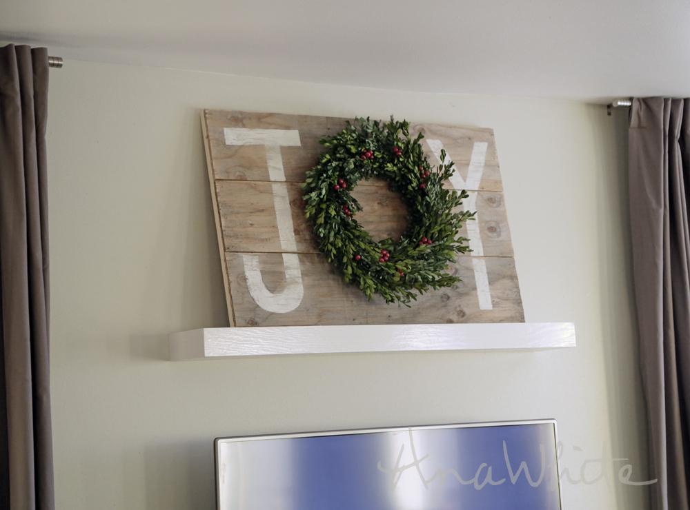 Joy Holiday Sign Christmas Wall Art