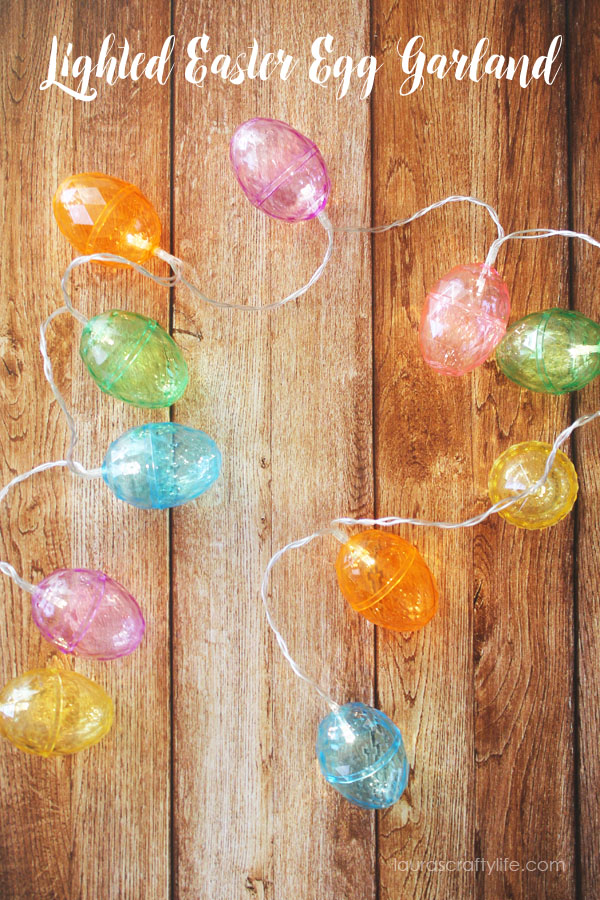 Lighted Easter Egg Garland