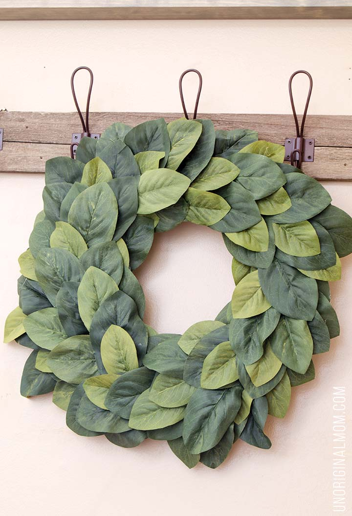 Luxurious DIY Magnolia Wreath