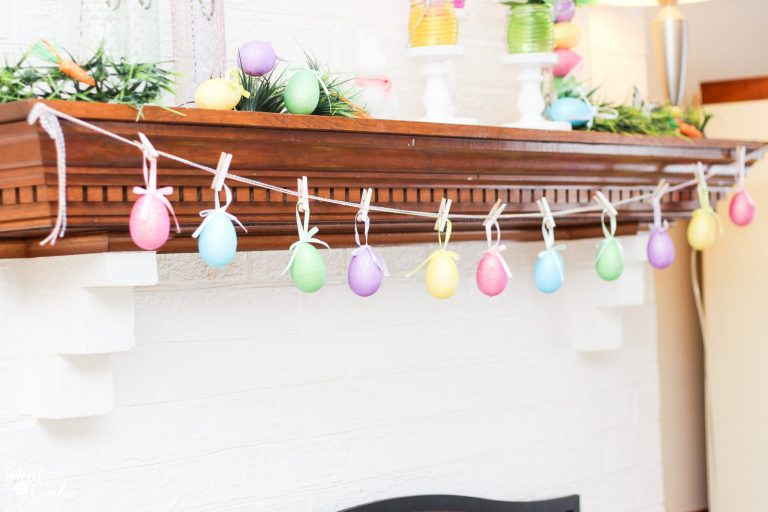Make a Glitter Egg Garland