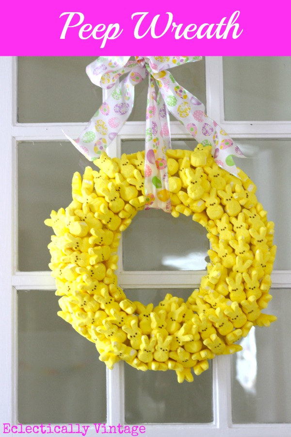 Make a Peeps Easter Wreath