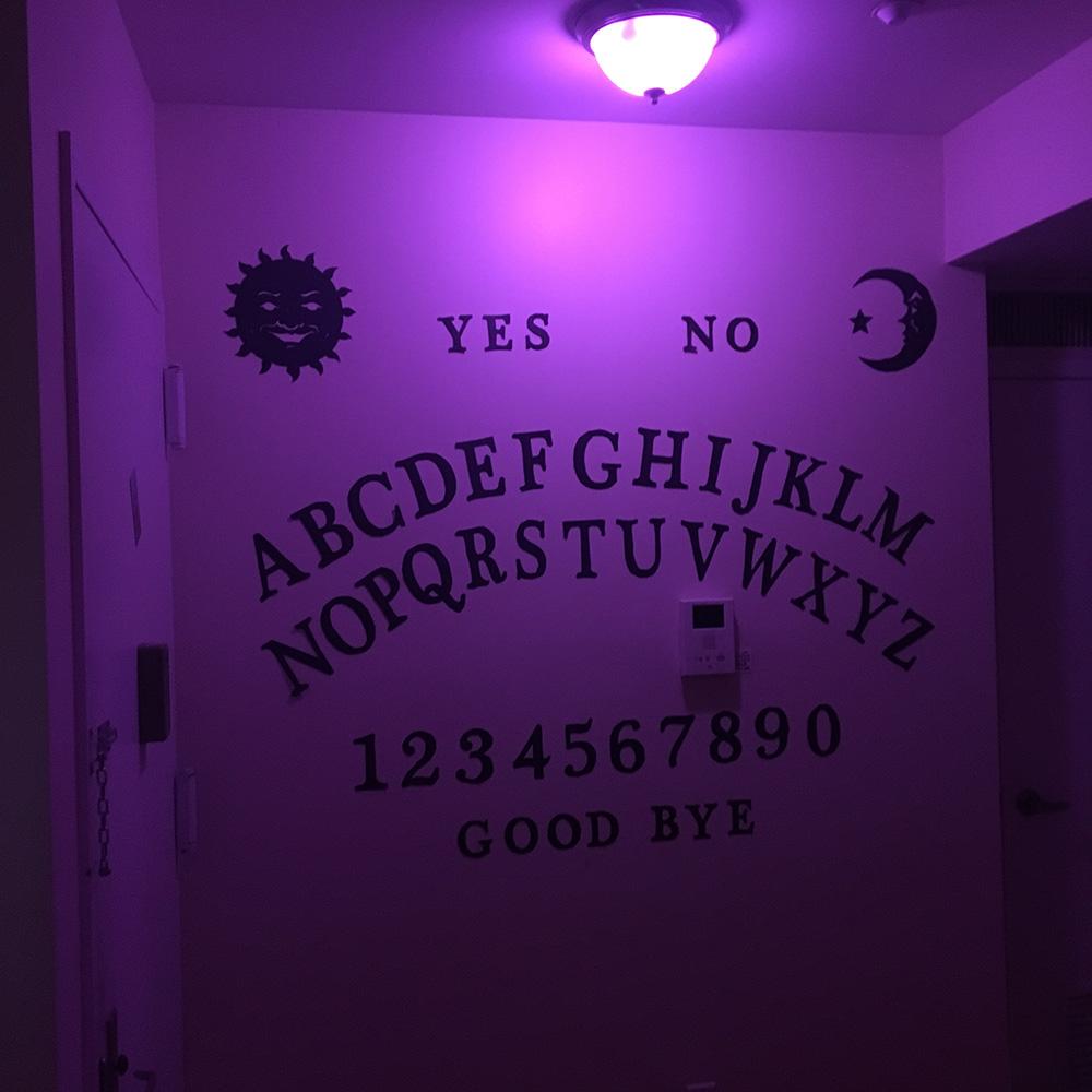 Ouija board wall decoration