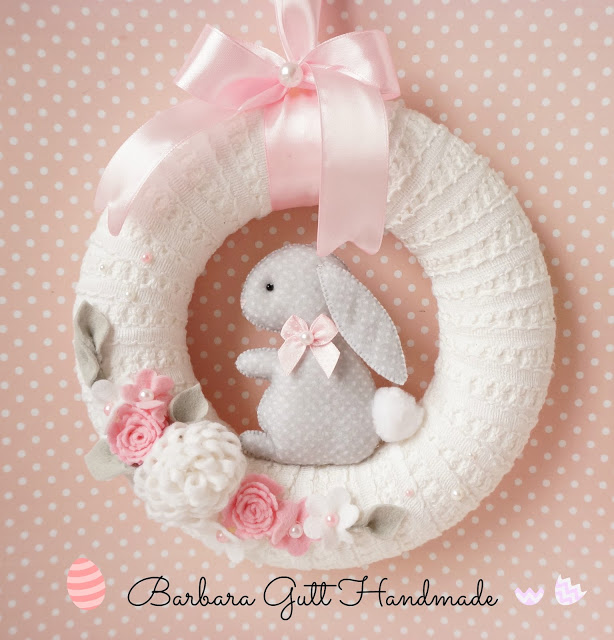 Pastel Bunny Rabbit Easter wreath