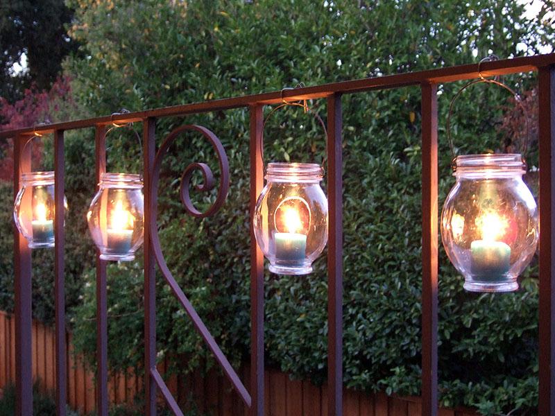 Repurposing Hanging jar lanterns
