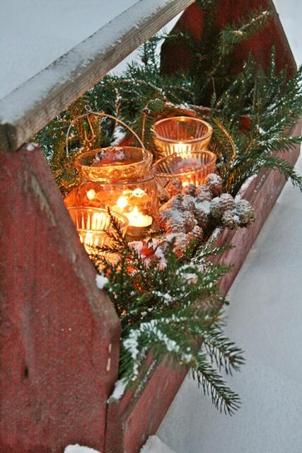 Rustic Festive Light Box