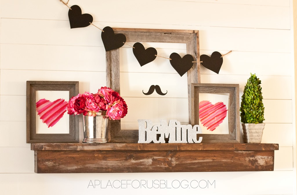 Rustic Valentine's Day Mantle