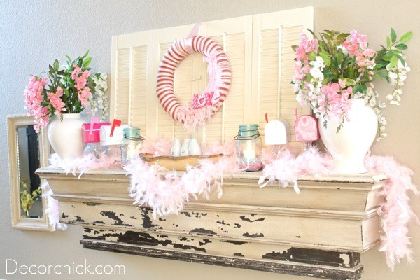 The Pinkified Mantel