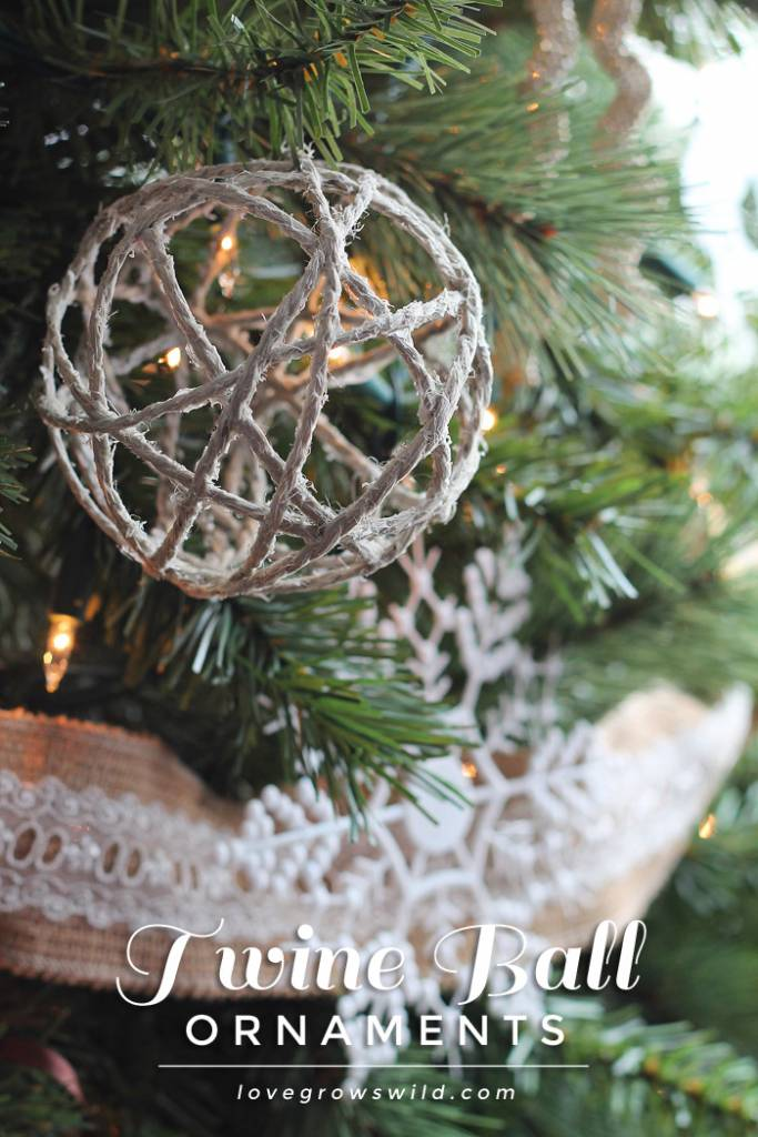 Twine Ball Ornaments