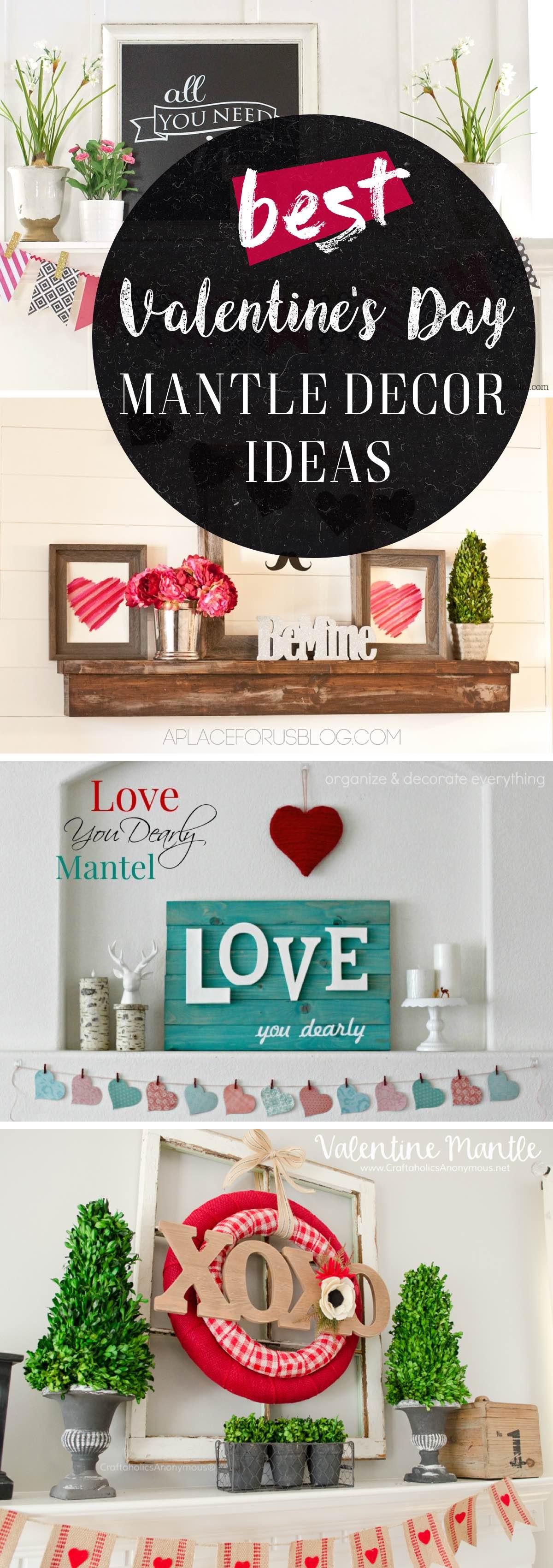 Valentines Day Mantle Decor Ideas