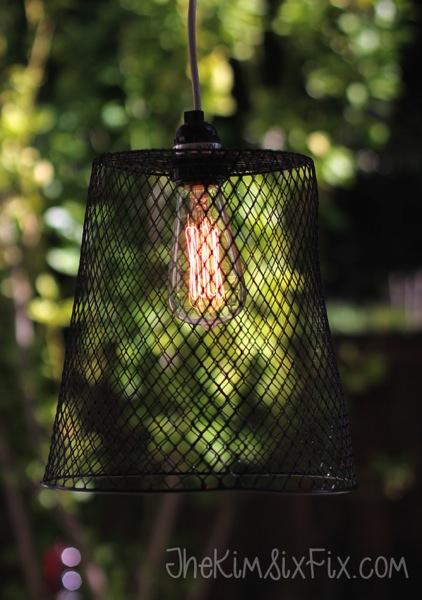 Wastebasket Pendant Light