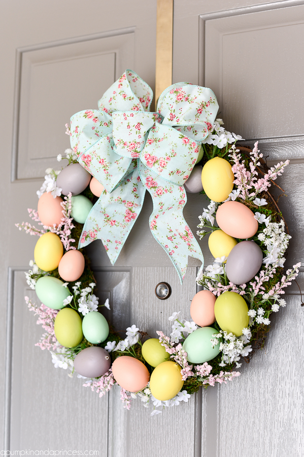 Wreath with Moss and Easter Eggs