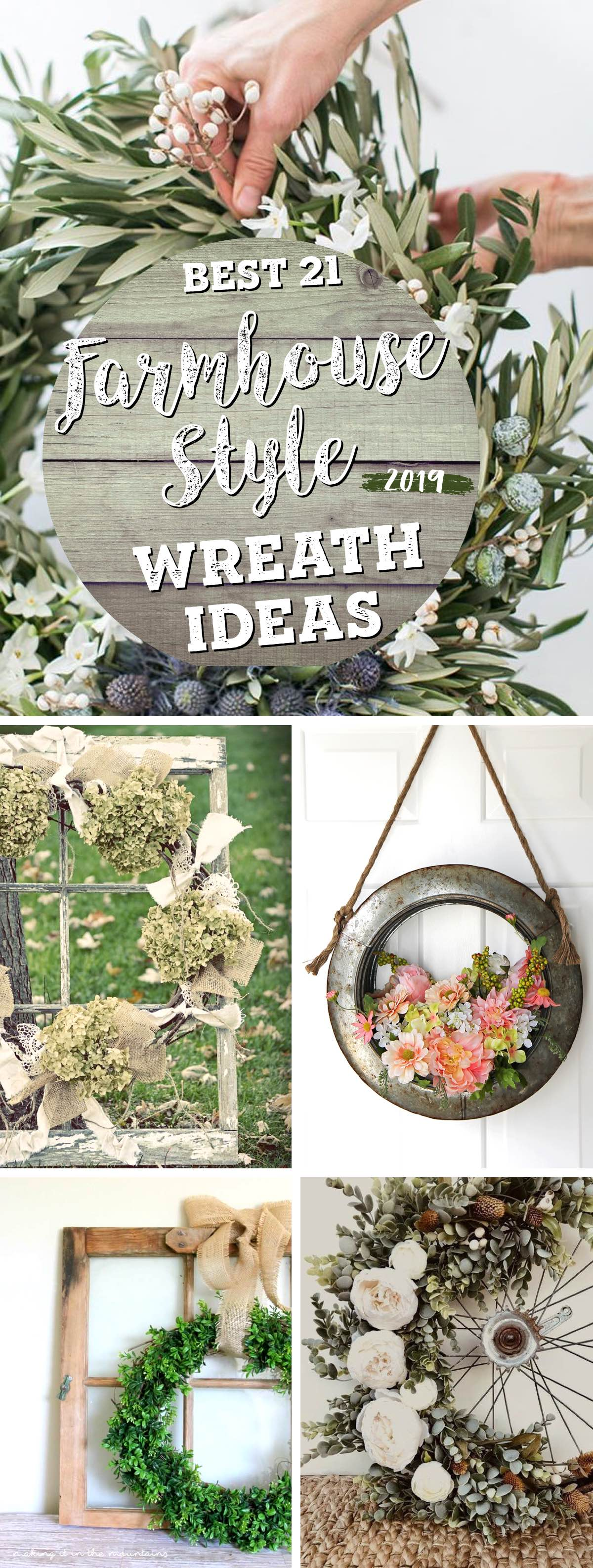 21 Best Rustic Farmhouse Wreath Ideas And Designs For 2019