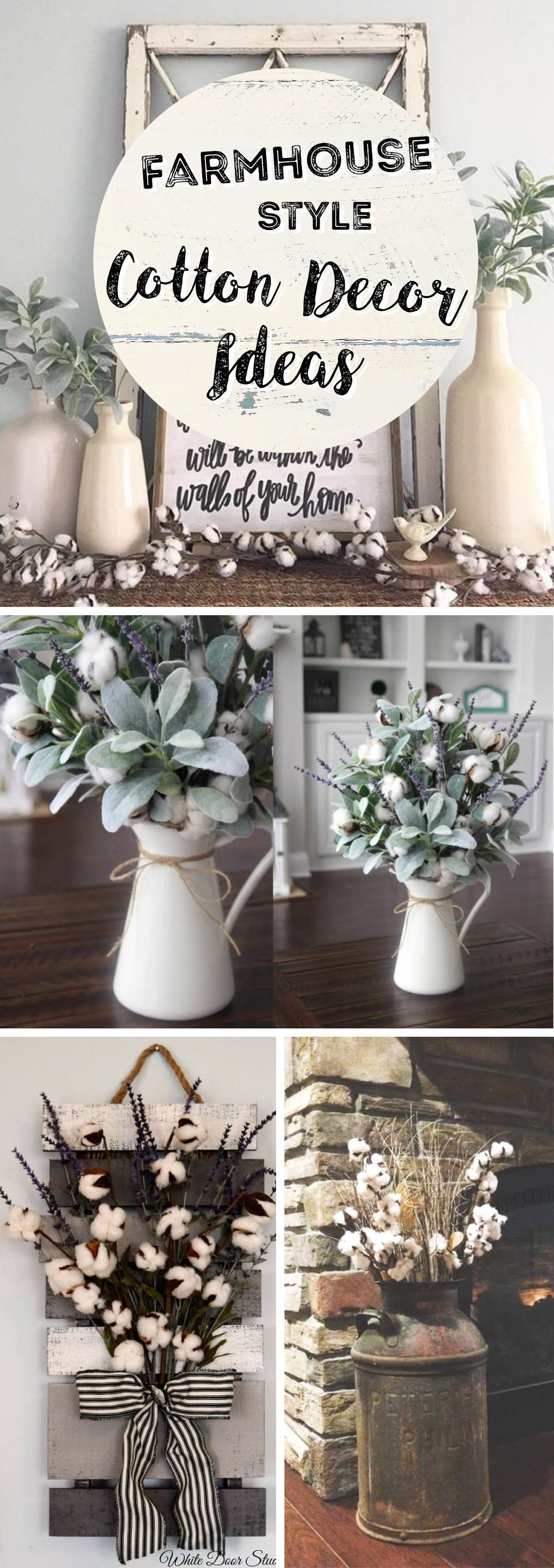 Best Farmhouse Style Cotton Decor Ideas