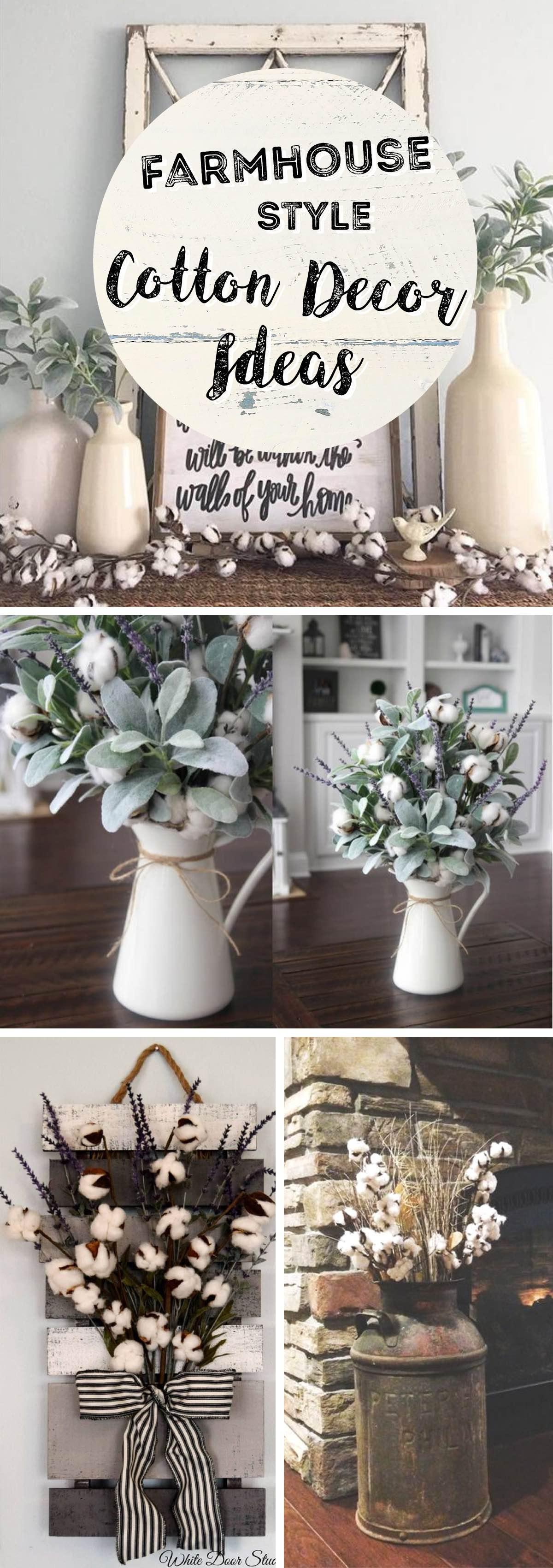 Idee Deco Vase Rond best farmhouse style cotton decor ideas