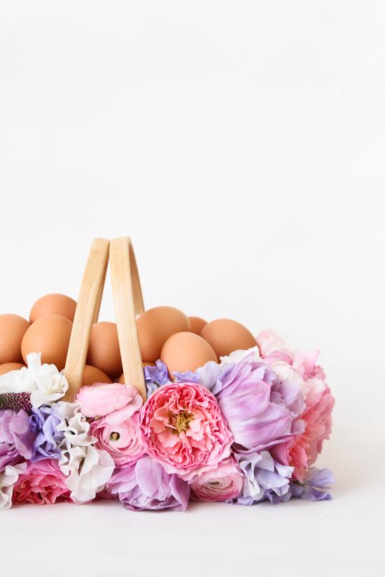 DIY Easter Basket with Fresh Flowers