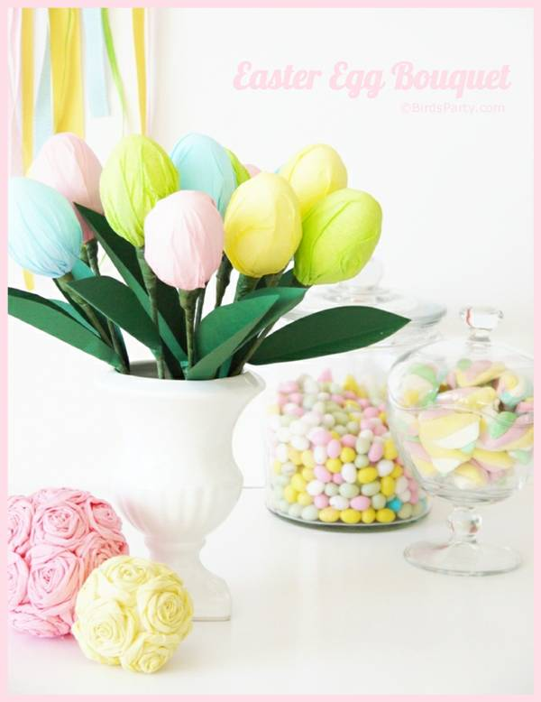 DIY Easter Egg Party Table Centerpiece Tutorial