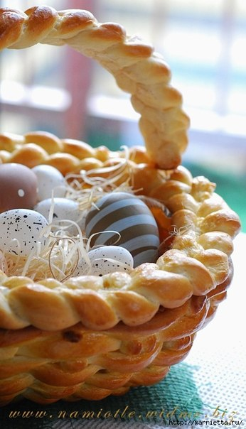 Easter Basket Crafts : Dough Wicker Easter Basket