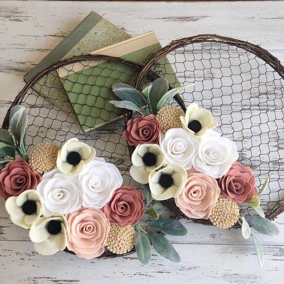 Easy DIY Spring Hoop Wreath