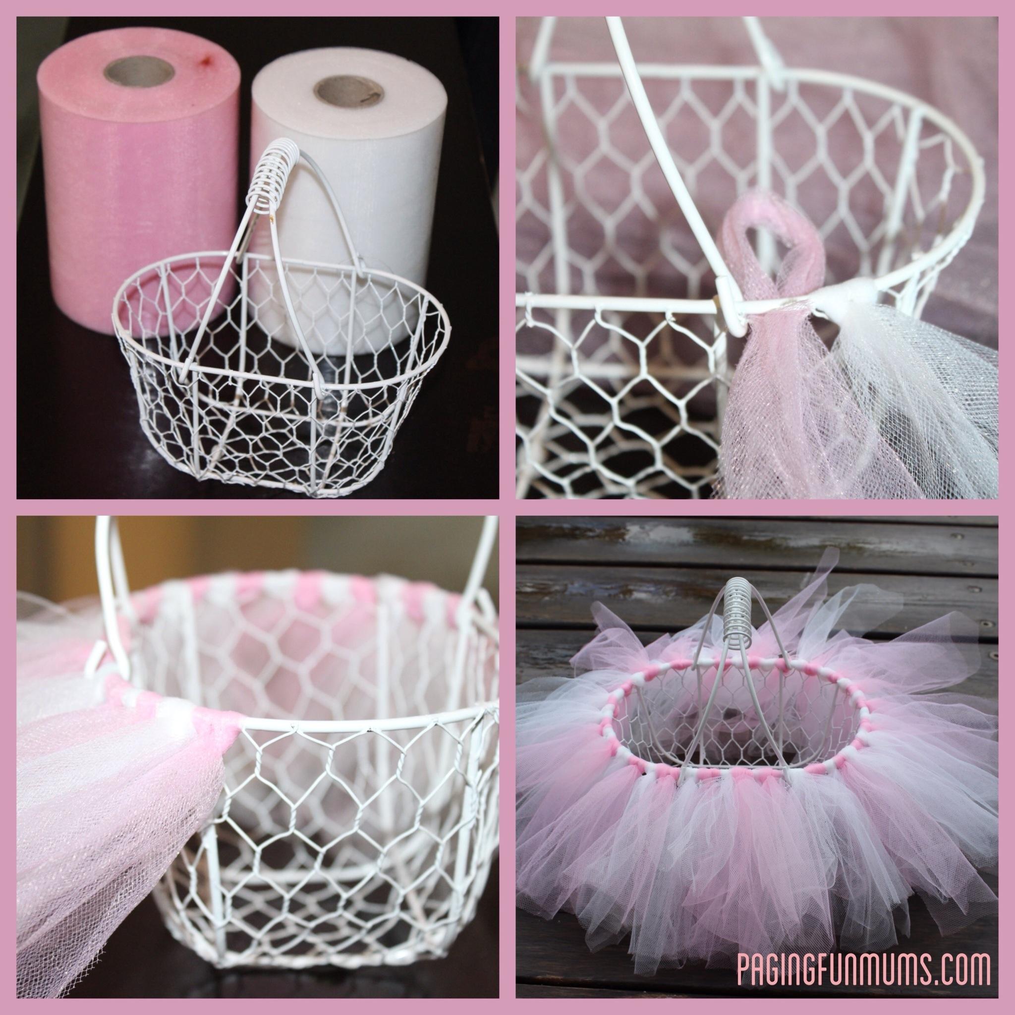 Easy DIY Tutu Easter Basket Louise