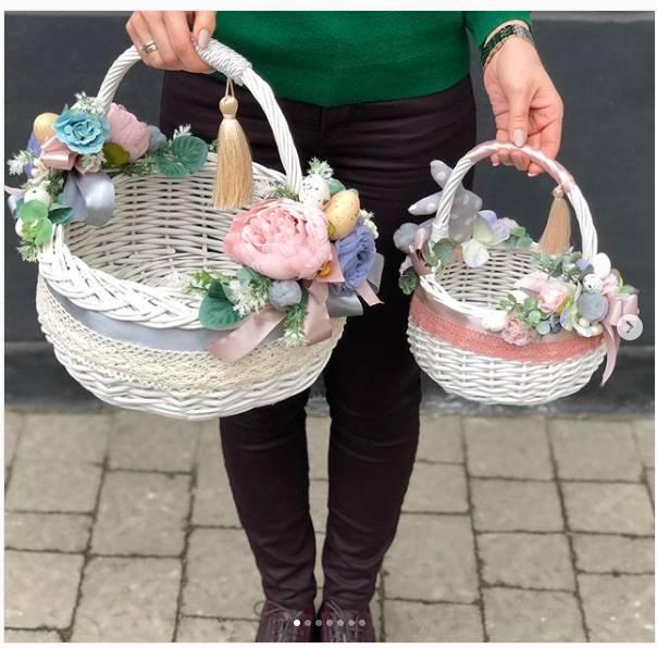 Flower Wicker Baskets