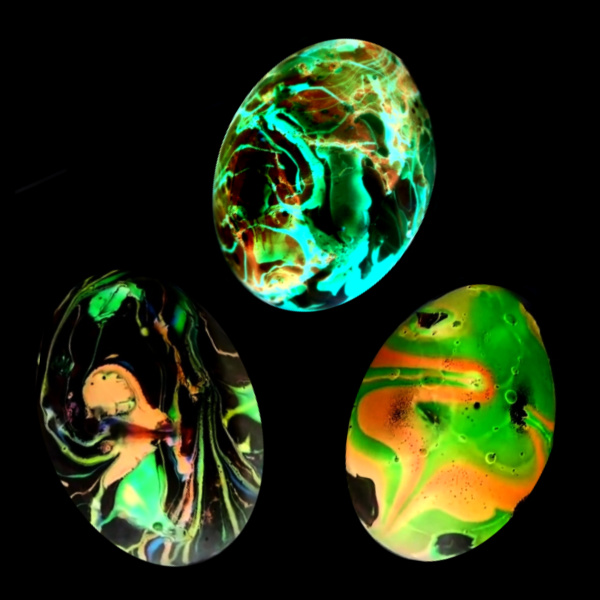 Glow-in-the-Dark Egg Decorating