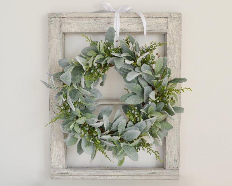 Lambs Ear and Juniper Wreath
