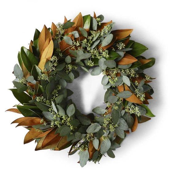 Magnolia & Seeded Eucalyptus Wreath