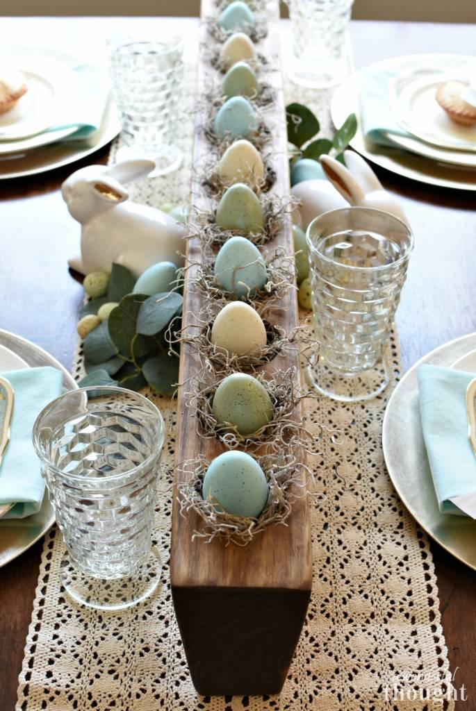 Soft and Lovely Easter Tablescape