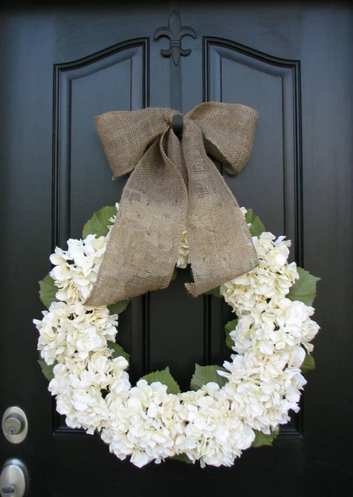 Wreath with Wedding Hydrangeas