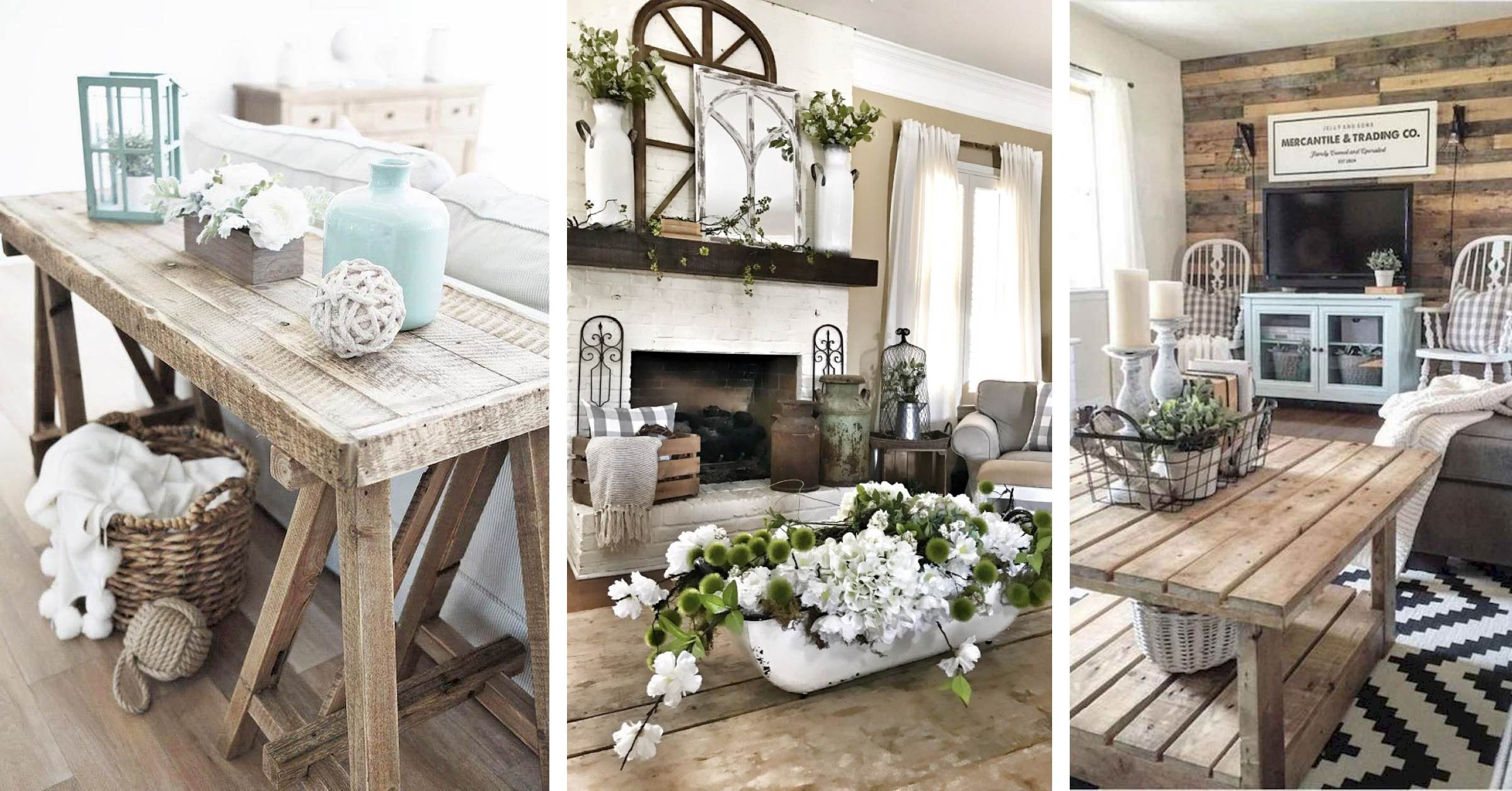 These 12 Farmhouse Living room Decor and Design Ideas are Simply