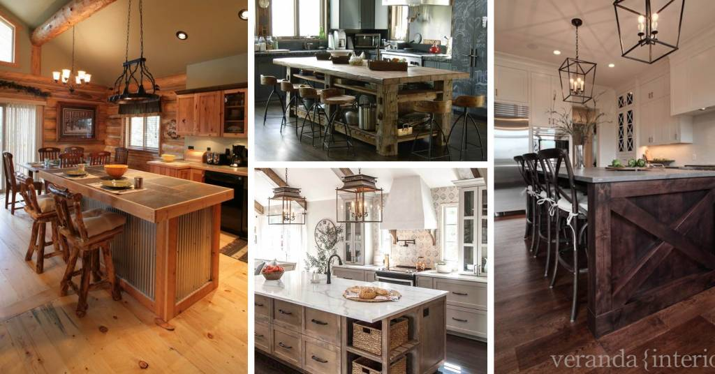 Charming Rustic Kitchen Ideas And Inspirations: 14 Rustic Kitchen Island Ideas Keeping It Earthy And Charming