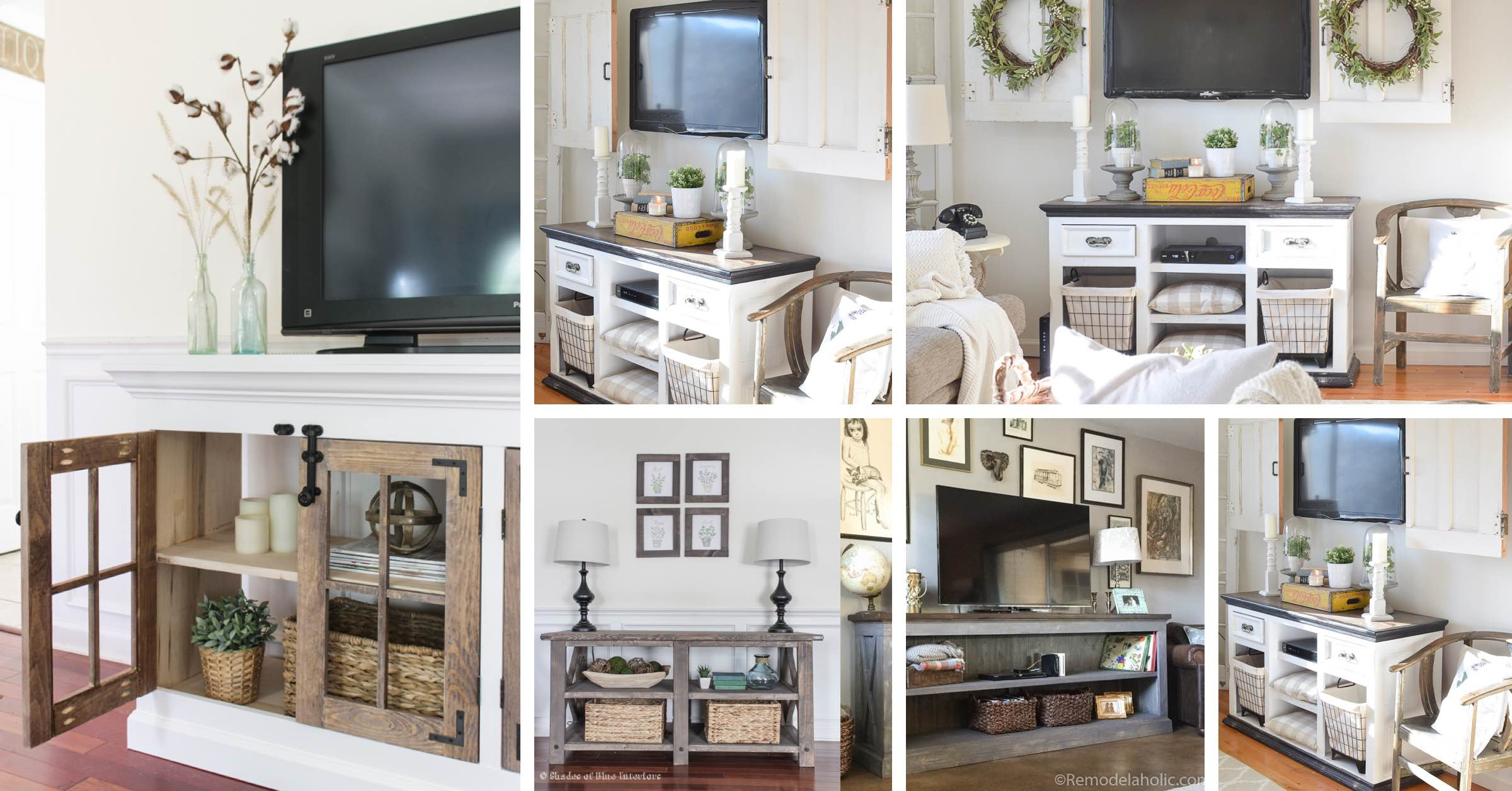 17 Farmhouse Tv Stand Ideas As Functional As They Are Stunning To Look At