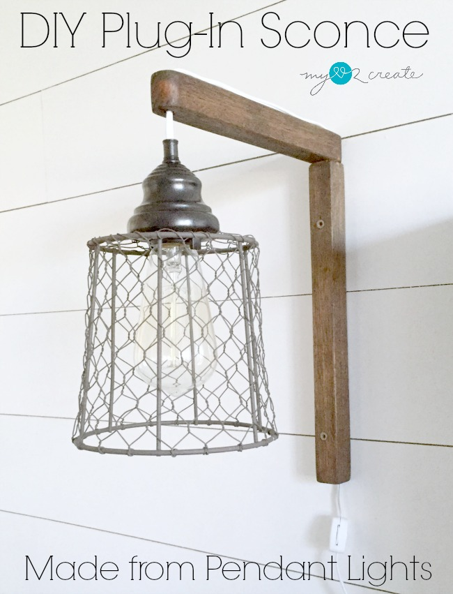 Plug-in Sconces From Pendant Lights