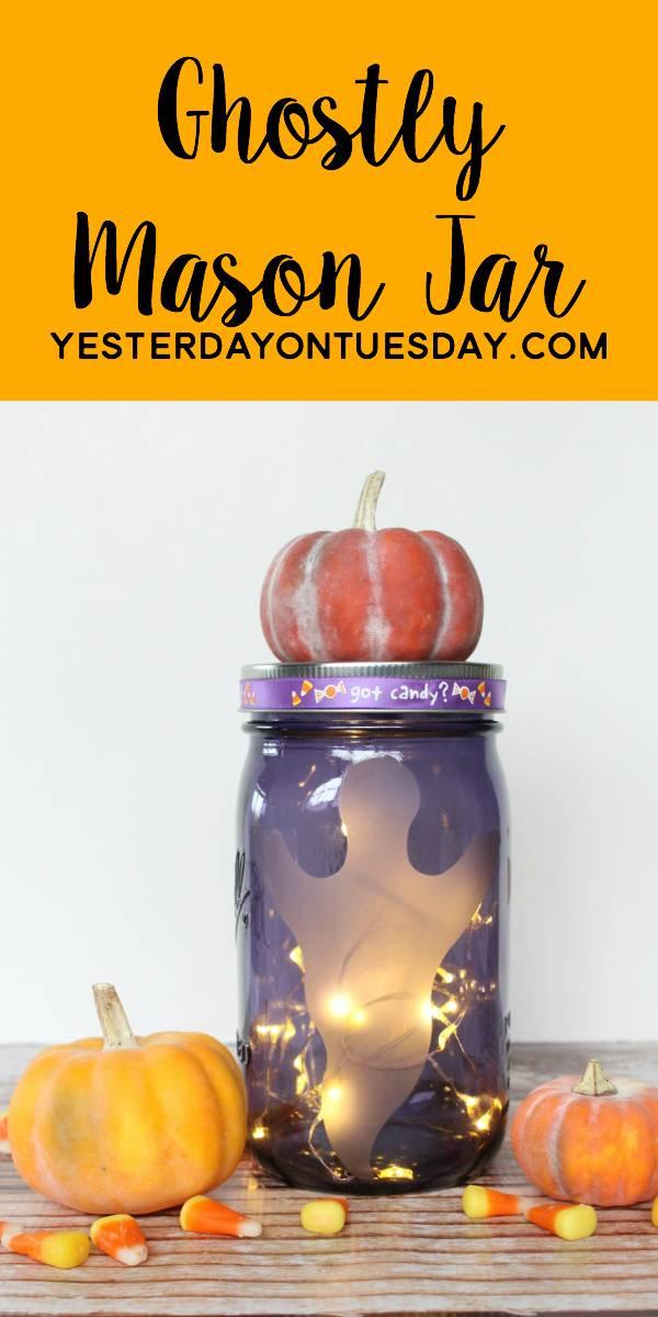 Ghostly Mason Jar