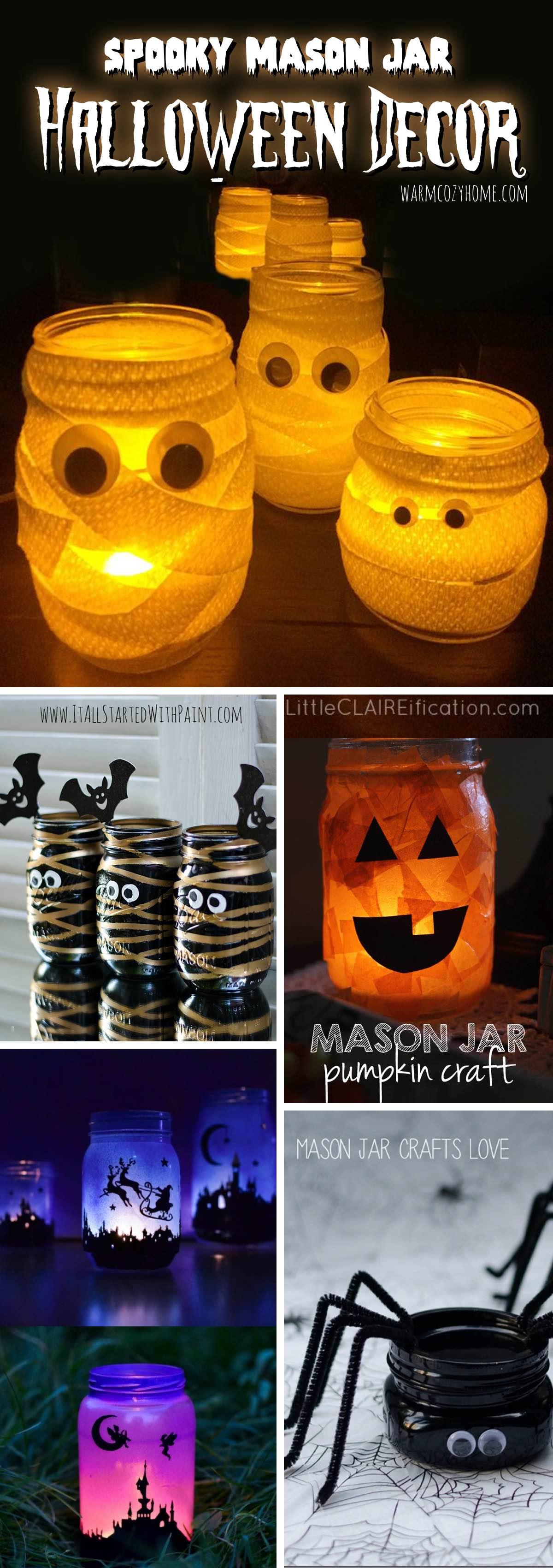 Spooky Mason Jar Halloween Decor Ideas