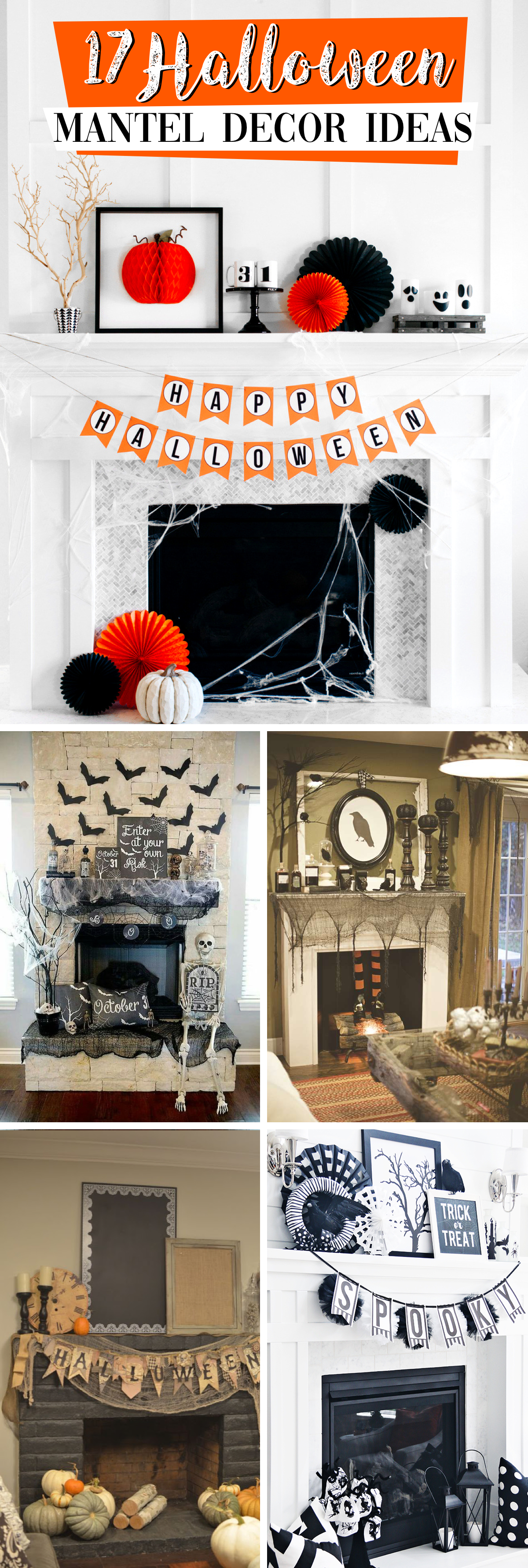17 Halloween Mantel Decor Ideas That are Easy to Pull Off and Rightly Spooky