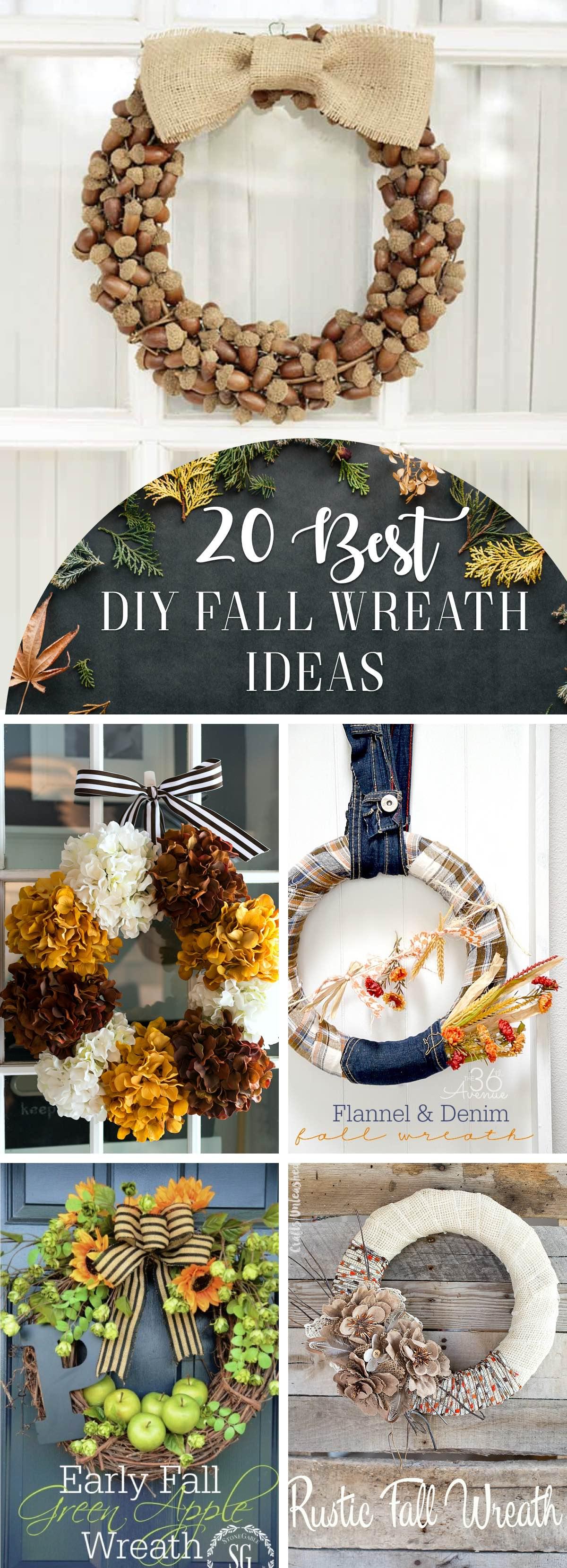 best 20 DIY Fall Wreaths