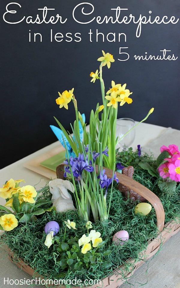 Easter Flower Basket Centerpiece