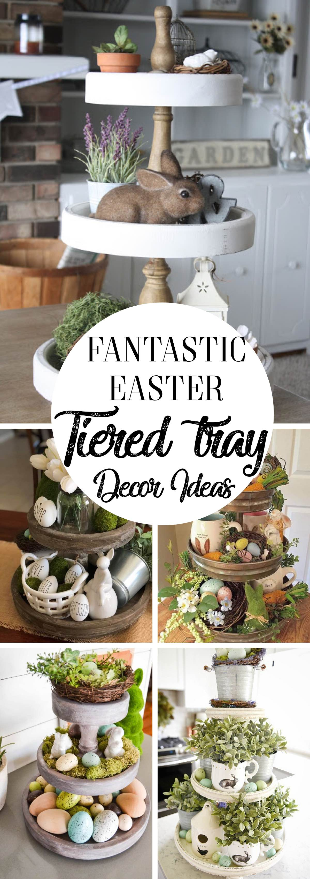 Fantastic Easter Tiered Tray Decor Ideas