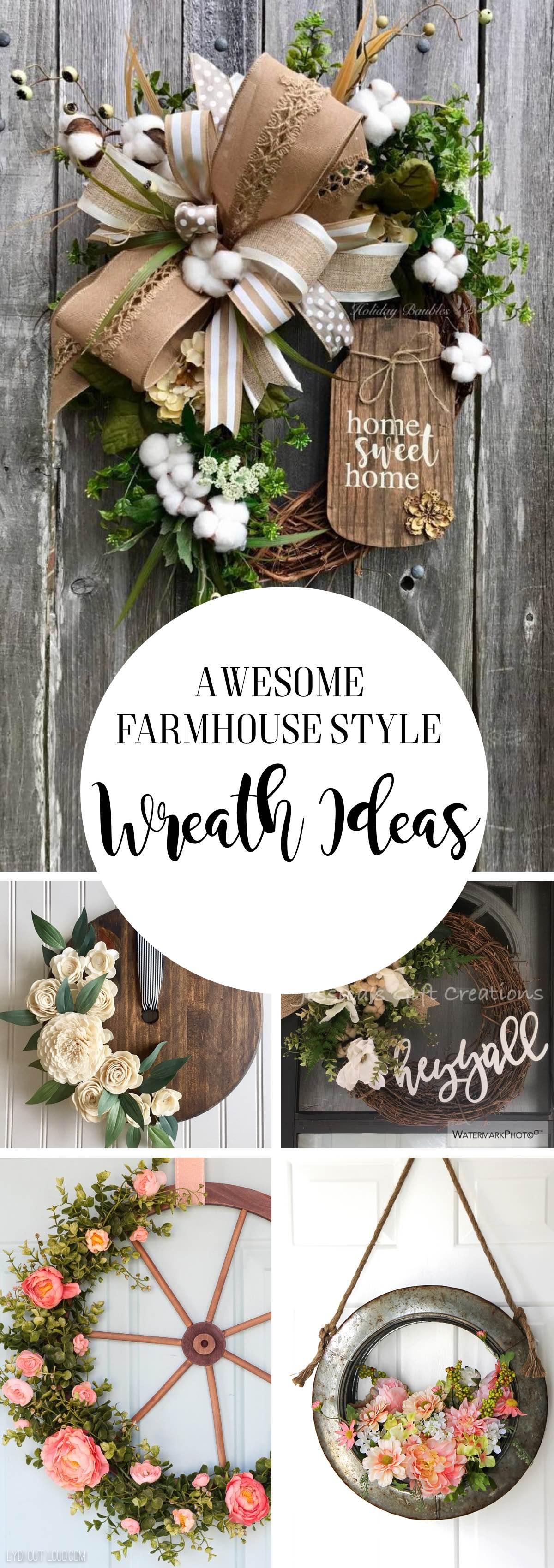Awesome Farmhouse Style Wreath Ideas